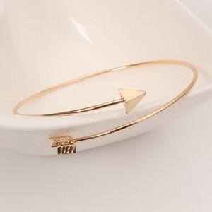 Golden Threads Jewelry - Arrow bangle bracelet gold